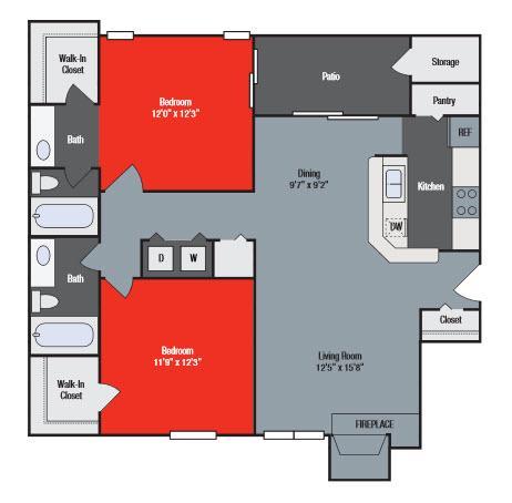 6060 Laurel Ln #4414, Willowbrook, IL - $1,380 USD/ month
